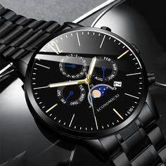Мужские кварцевые часы с датой Shein