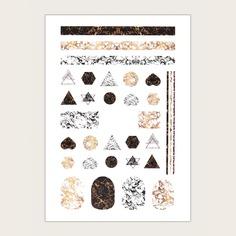 1 лист наклейка для ногтей с геометрическим узором Shein