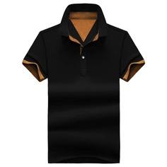 Мужская контрастная рубашка-поло Shein