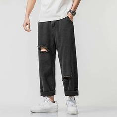 Мужские рваные джинсы оверсайз Shein