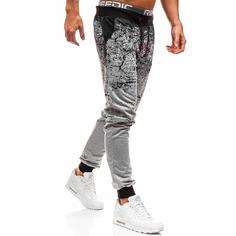 Мужские спортивные брюки на кулиске с принтом тай дай Shein