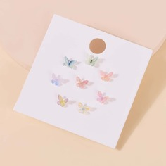 8 пар серьги-гвоздики с бабочкой Shein