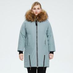 Ватное пальто размера плюс на молнии с капюшоном и искусственным мехом Shein