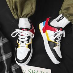 Мужские контрастные туфли на шнурках Shein