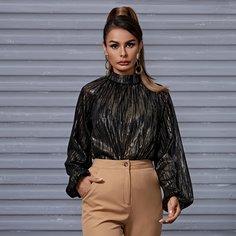 Пуговица Очаровательный Блузы Shein