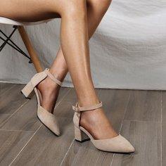 Остроконечные туфли на массивном каблуке Shein