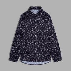 Пуговица цветочный Отпуск Мужские рубашки Shein