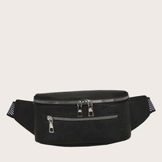 Регулируемый стеганая Круто Поясные сумки Shein