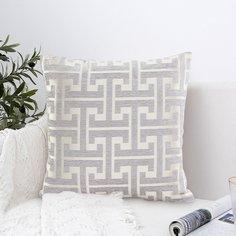 Чехол для подушки с геометрическим рисунком без наполнителя Shein