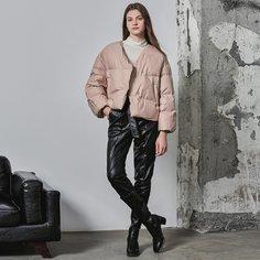 Нейлоновое пуховое пальто со спущенным рукавом Shein