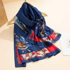 Контрастный шарф-шаль Shein