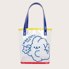 двойная ручка Мультяшный принт Детские сумки на плечо и сумки-тоут Shein