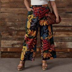 Широкие брюки размера плюс с графическим принтом Shein
