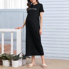 буква Повседневный Домашняя одежда для беременных Shein