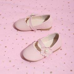 Контрастные туфли на плоской подошве для девочек Shein