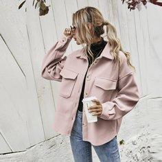 Асимметричное пальто с карманом Shein