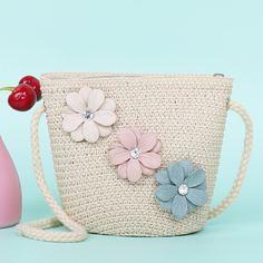 со стразами Со цветочками Детские сумки через плечо Shein