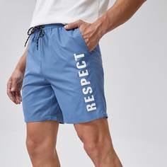 Мужские шорты с текстовым принтом Shein