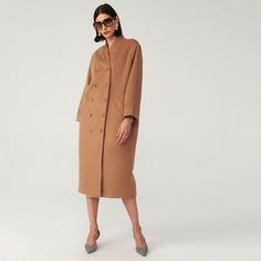 Длинное пальто из смесовой шерсти Shein