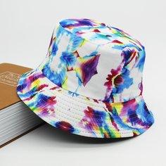 Мужская двусторонняя шляпа с узором тай-дай Shein