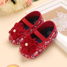 Туфли на плоской подошве с цветочным декором для девочек Shein