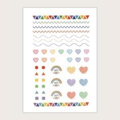 1 лист стикер для ногтей с узором сердца Shein