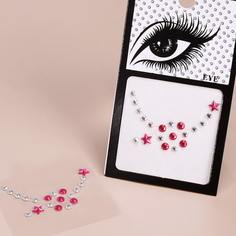 1 лист тату-наклейка для глаз со стразами Shein