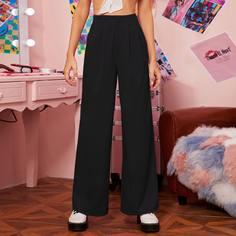 Плиссированные широкие брюки Shein