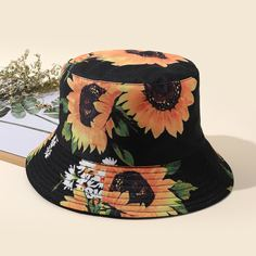 Шляпа с цветочным принтом Shein