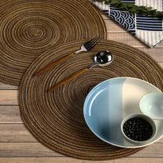 1шт круглый плетеный коврик для столовых приборов Shein