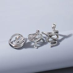 Мужское кольцо в форме змеи 3шт Shein