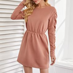 Однотонное платье Shein