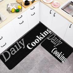 1шт кухонный ковер с текстовым принтом Shein