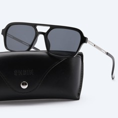 Украшение Квадрат Мужские солнечные очки Shein