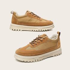 Мужские холщовые официальные туфли на шнурках Shein