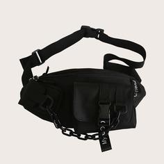 Мужская поясная сумка с цепочкой Shein