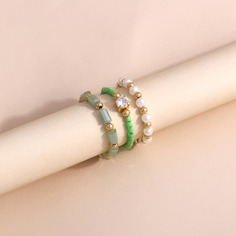 3шт кольцо из бусин Shein