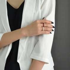 2шт кольцо с искусственным жемчугом Shein