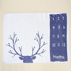 Одеяло для фотографии новорожденных унисекс с текстовым принтом Shein