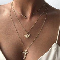 Многослойное ожерелье с ангелом Shein