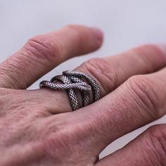 Мужское винтажное кольцо в форме змеи Shein