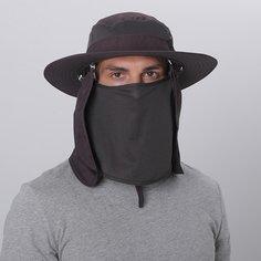 Мужская шляпа от солнца со съемным клапаном для лица и шеи Shein