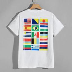 Мужская футболка с принтом флага Shein