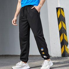 на кулиске Мультяшный принт Мужские спортивные брюки Shein