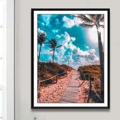 Алмазная картина с рисунком пейзажа без рамки Shein