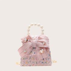 Цепочка с бантом Клетка Детские сумки на плечо и сумки-тоут Shein
