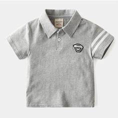 Аппликация Полосатый Институтский Рубашки поло для мальчиков Shein