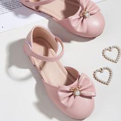 Туфли на плоской подошве с искусственным жемчугом и бантом для девочек Shein