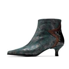 Ботинки на каблуке с заклепками Shein