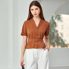 Пояс Одноцветный Элегантный Блузы Shein